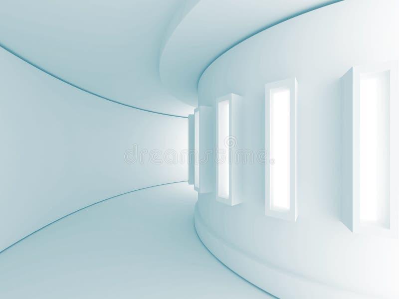 Abstrait videz l'architecture intérieure lumineuse Backgr de couloir illustration libre de droits