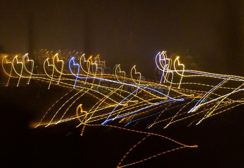 Abstrakci fotografia od nadokiennych czarodziejskich świateł zdjęcie royalty free