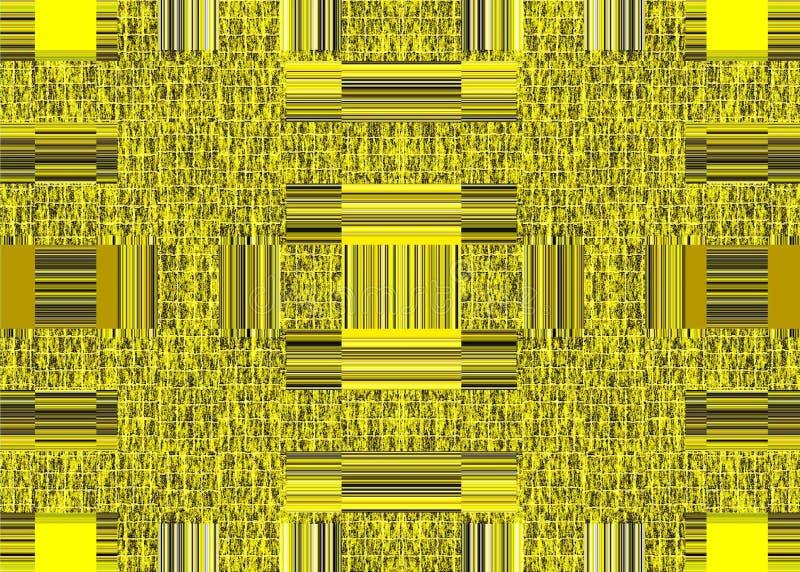 Abstrakcja żółta ściana lub żelazna brama statki kosmiczni ilustracja wektor