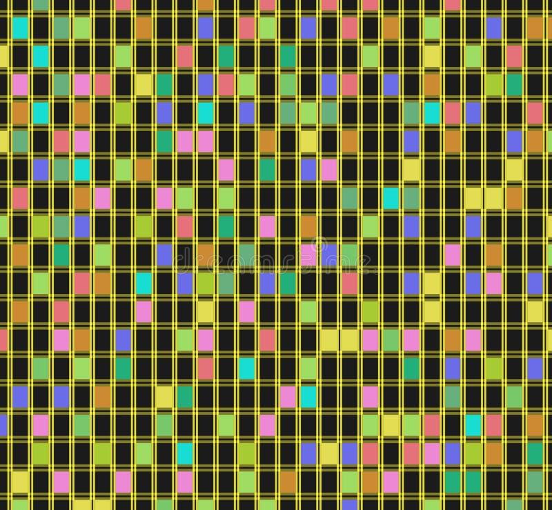 Abstrakcja barwiący sześciany ilustracji
