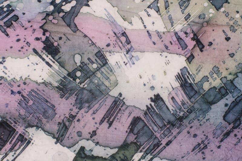Abstrakcja, czerep, gorący batik, tło tekstura, handmade na jedwabiu ilustracji