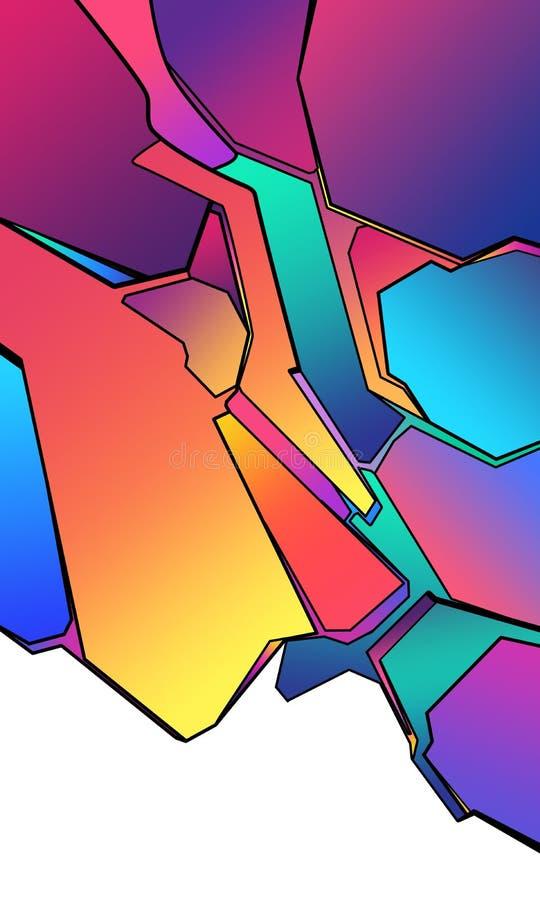 abstrakcja geometryczna royalty ilustracja