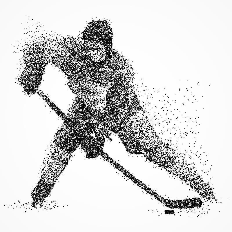 Abstrakcja, hokej, lód, krążek hokojowy ilustracji