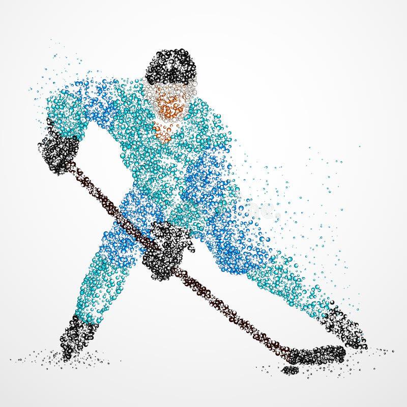 Abstrakcja, hokej, lód, krążek hokojowy ilustracja wektor