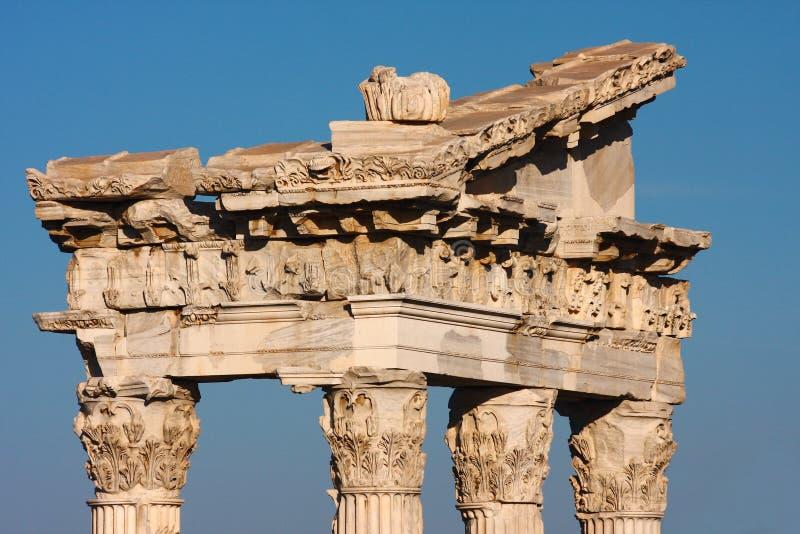 Abstrakcja kolumny w Pergamon fotografia royalty free