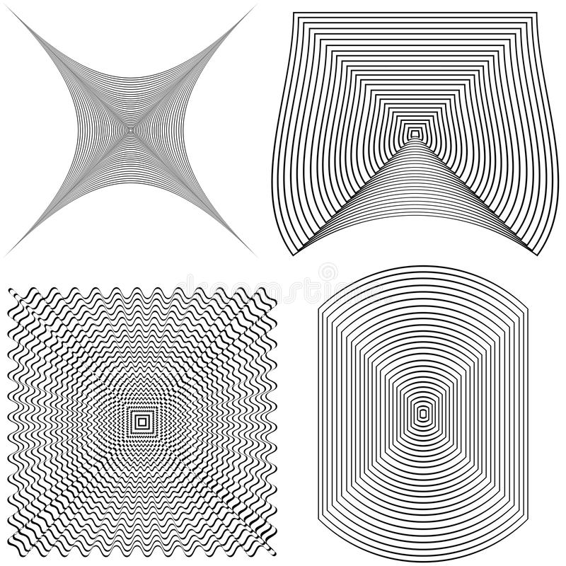 Abstrakcja linie ilustracji