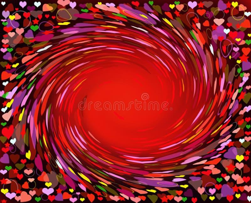 Abstrakcja od serc ilustracja wektor