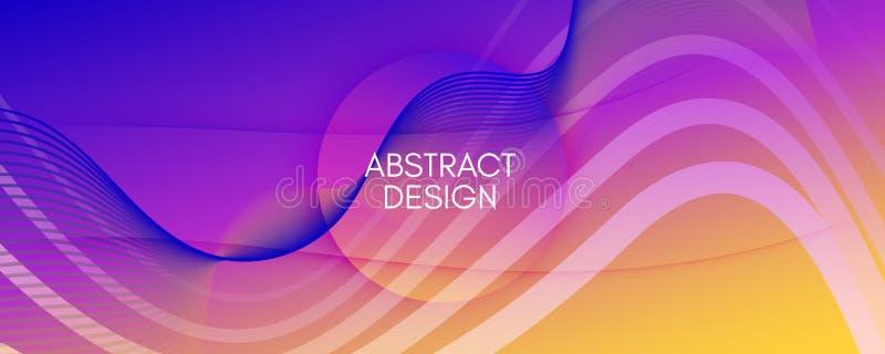 Abstrakcja płynu Tapeta przepływu Tekstura kształtu 3d ilustracja wektor