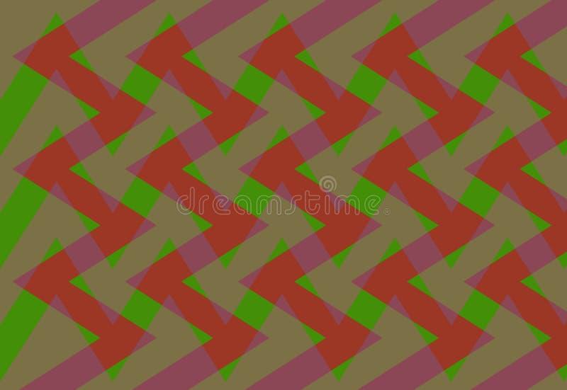 Abstrakcja urocza, świetny, oryginalny, uczciwy tło czerwień, zieleni kolory! ilustracji