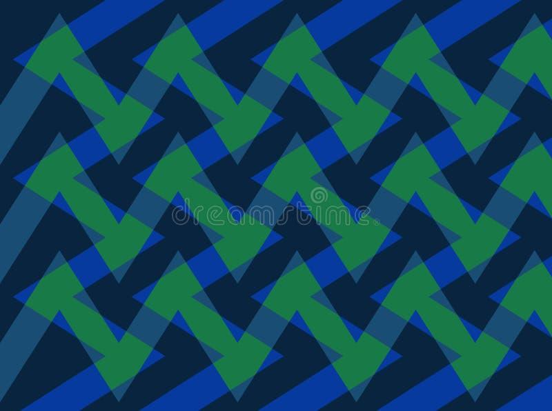 Abstrakcja urocza, świetny, oryginalny, uczciwy tło zieleń, zmrok, zmrok - błękit barwi! ilustracji