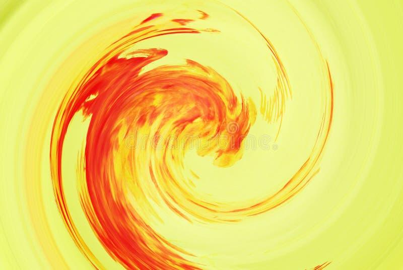 Abstrakcja w jesień kolorach Ślimakowaty plamy tornado ilustracji