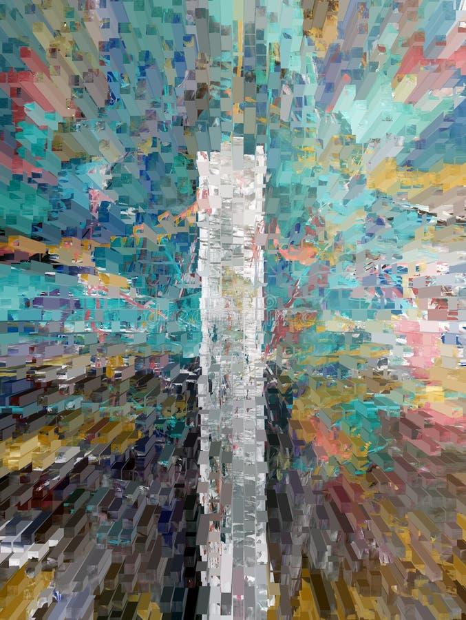 abstrakcja wnętrze grafika obraz Abstrakt sztuka obrazek Projekt ilustracja wektor