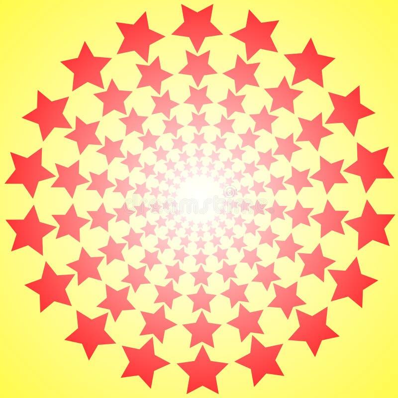 Abstrakcja z gwiazdami ilustracji