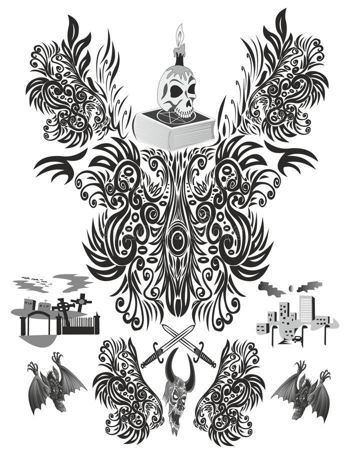 Abstrakcji czarna magia jest ignorancją royalty ilustracja