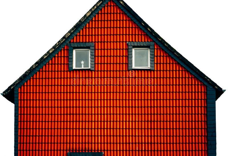 Abstrakcji czerwieni domu fasada obrazy stock