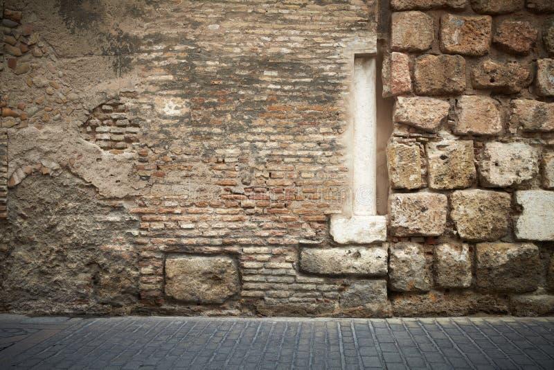 Abstrakcjonistyczna ściana z cegieł kolumna fotografia stock
