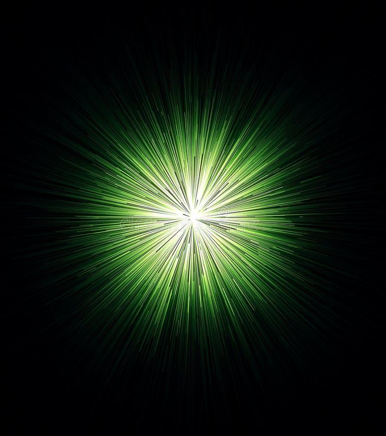 Abstrakcjonistyczna światło białe sfera z wiele błękitnymi promieniami rozprzestrzenia w wszystkie kierunki odizolowywających na  royalty ilustracja