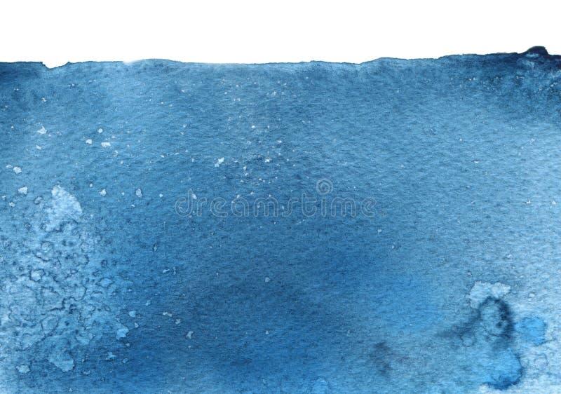 Abstrakcjonistyczna akwarela, atramentu kleks malujący tło papierowa tekstura obraz stock