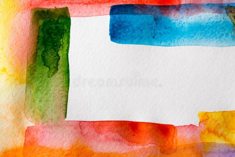 Abstrakcjonistyczna akwarela malujący tekstury tło zdjęcie royalty free