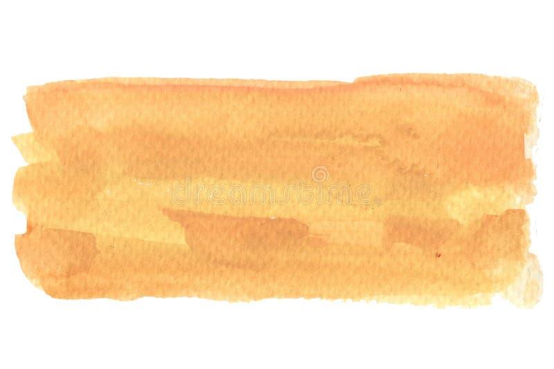 Abstrakcjonistyczna akwarela na białym tło guaszu koloru chełbotaniu obraz royalty free
