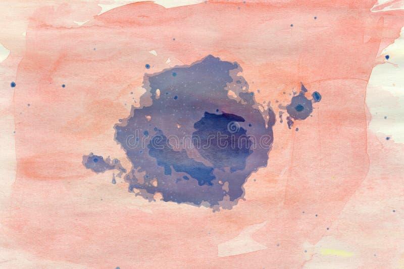 Abstrakcjonistyczna akwareli obmycia tekstura royalty ilustracja