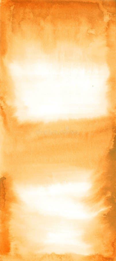 Abstrakcjonistyczna akwareli ręka malował pomarańczowego i białego tło, ilustracja wektor