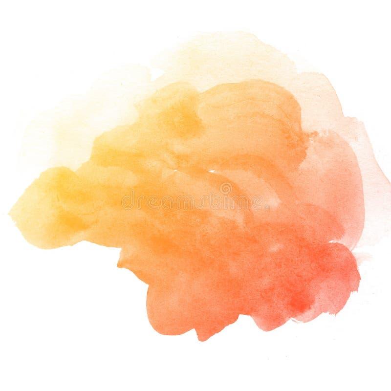 Abstrakcjonistyczna akwareli sztuki ręki farba royalty ilustracja