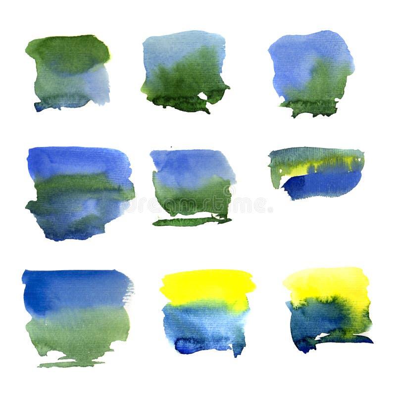 Abstrakcjonistyczna akwareli sztuki ręki farba odizolowywająca na białym tle royalty ilustracja