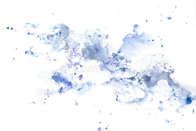Abstrakcjonistyczna akwareli sztuki ręki farba Tło obraz stock
