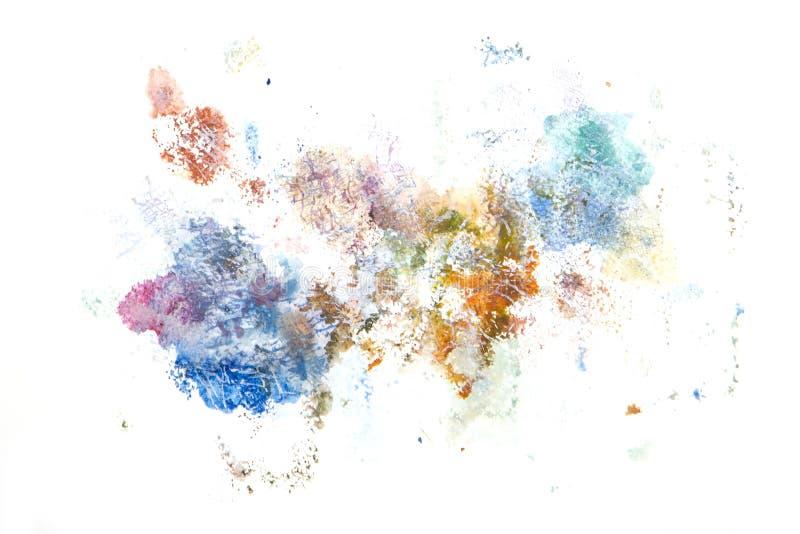 Abstrakcjonistyczna akwareli sztuki ręki farba Tło zdjęcie stock