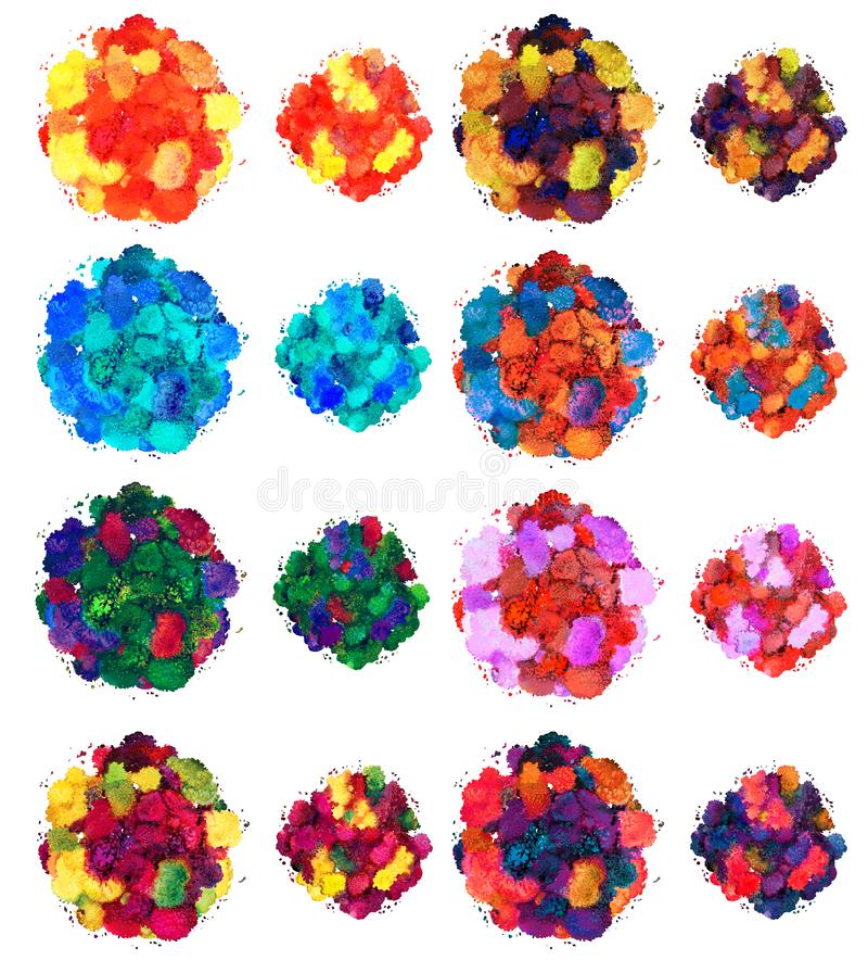 Abstrakcjonistyczna akwareli tekstura, bionic forma, dynamicznego koloru grecki b??kit Du?y rozmiar Dla t?a pojedynczy bia?e t?o ilustracja wektor
