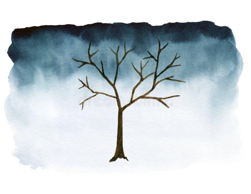 Abstrakcjonistyczna akwareli wolnej ręki ilustracja odizolowywająca ilustracja wektor