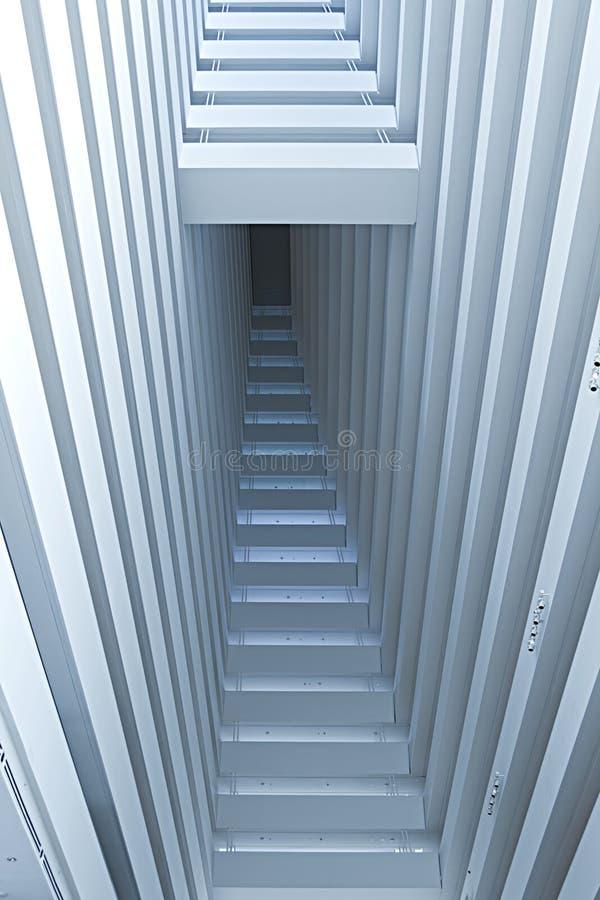 abstrakcjonistyczna architektoniczna szczegółu wnętrza perspektywa obrazy royalty free