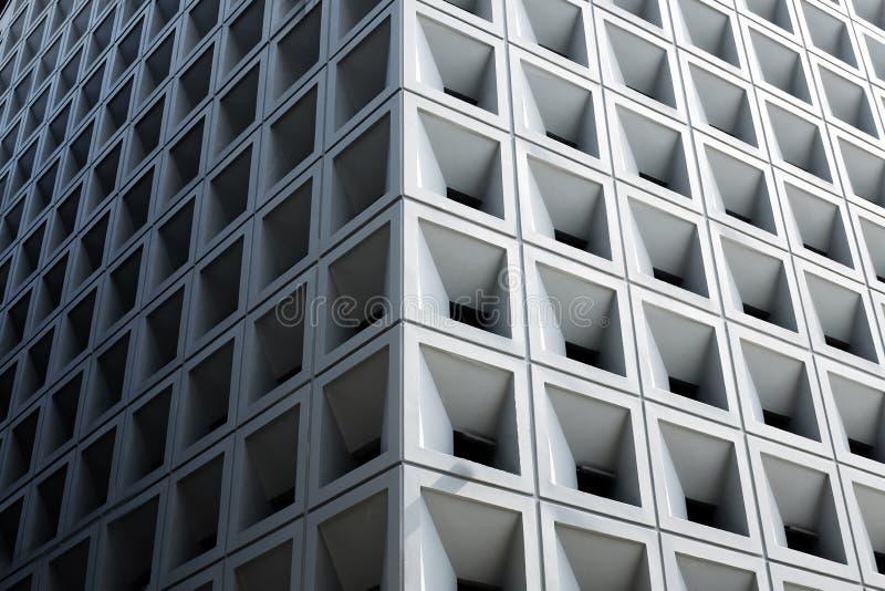 Abstrakcjonistyczna architektura - fasada nowoczesna architektura abstrakcyjna zdjęcia stock