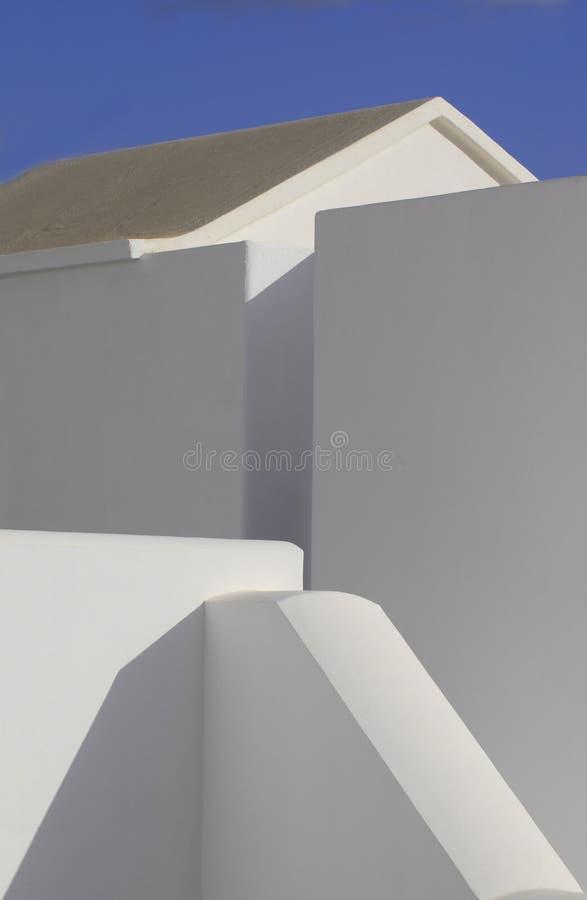 Abstrakcjonistyczna architektura na wyspie Lanzarote obraz royalty free