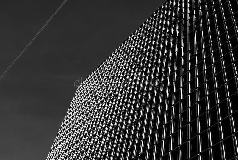 Abstrakcjonistyczna architektury fasada zdjęcia stock