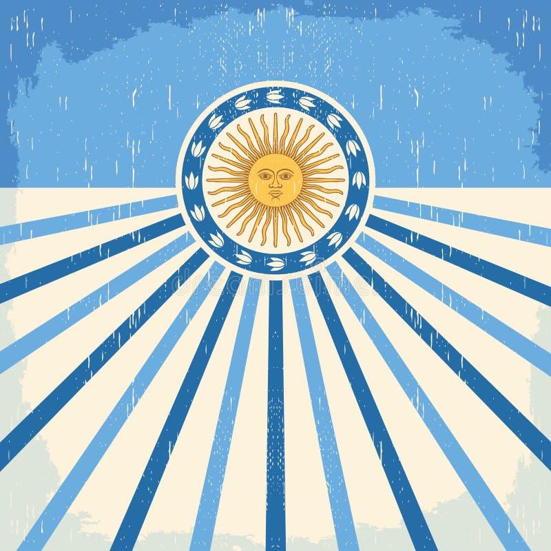 Abstrakcjonistyczna Argentyna rocznika karta royalty ilustracja