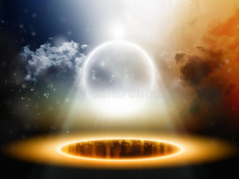 abstrakcjonistyczna astronautyczna sfera ilustracja wektor