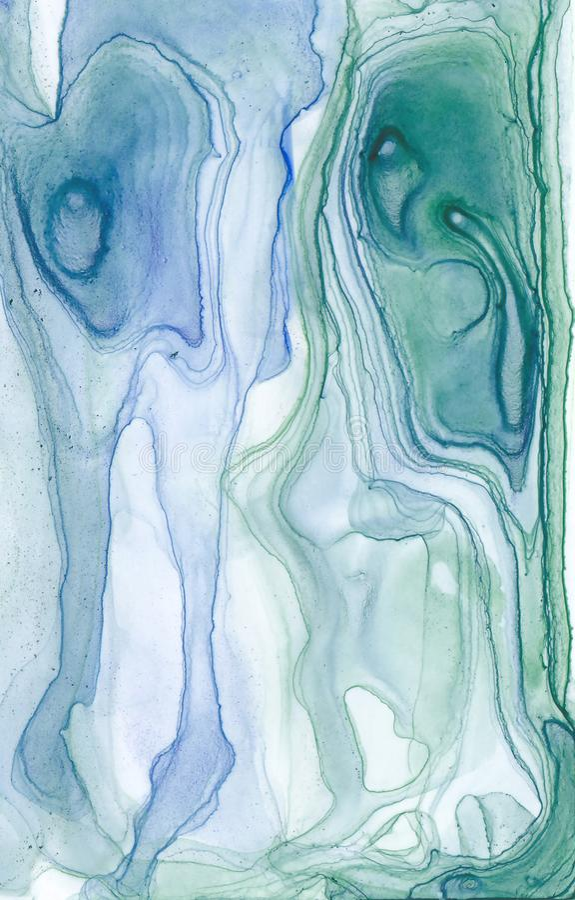 Abstrakcjonistyczna atrament tekstura Jaskrawy akwareli tło dla twój projektów nowoczesna sztuka royalty ilustracja