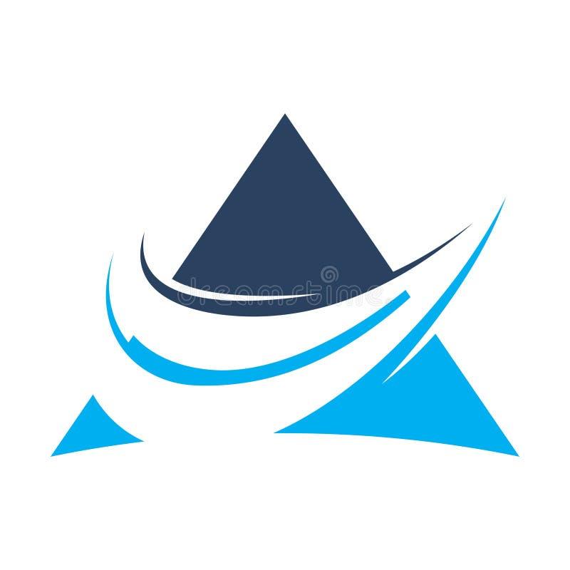 ABSTRAKCJONISTYCZNA BŁĘKITNA ikona DLA ROZLICZAĆ zarządzanie finansami szablon ilustracji