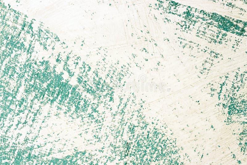 Abstrakcjonistyczna błękitna nierówna powierzchnia malował z białą farbą, tło, tekstura royalty ilustracja