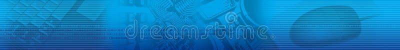 Abstrakcjonistyczna Błękitna pasek technologia ilustracji