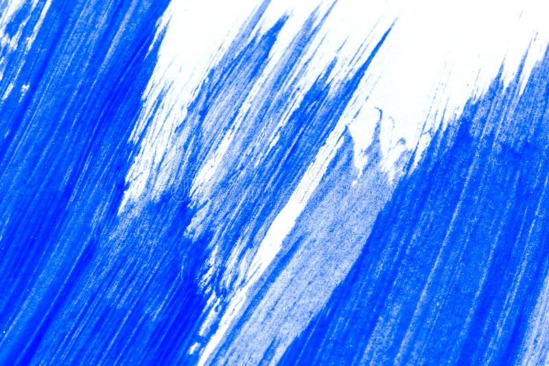 Abstrakcjonistyczna błękitna ręka rysujący akrylowego obrazu sztuki kreatywnie backgroun royalty ilustracja
