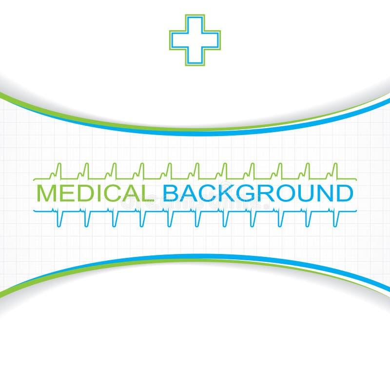 Abstrakcjonistyczna błękitna siatka medyczna ilustracji