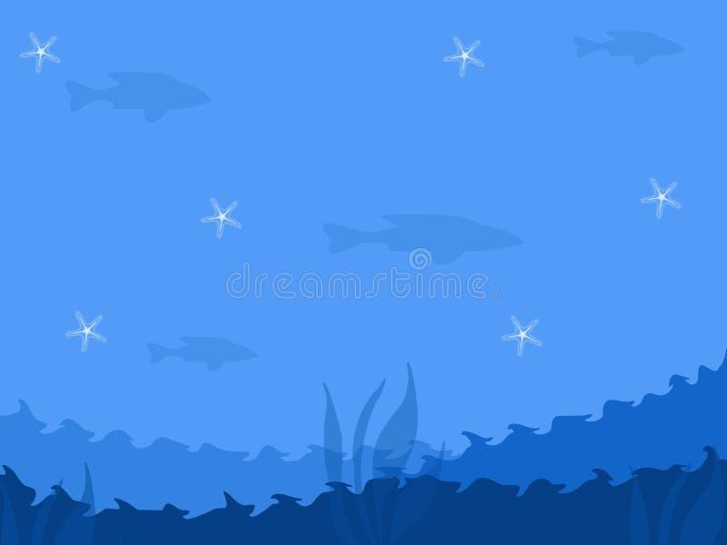 Abstrakcjonistyczny Błękitny Denny tło royalty ilustracja