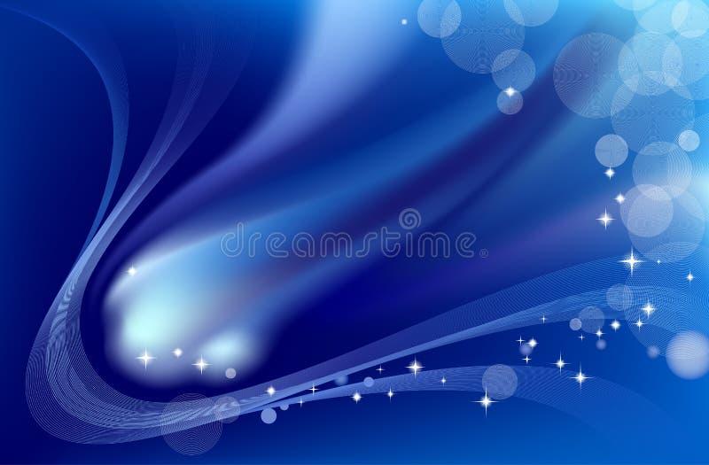 abstrakcjonistyczna błękitny kometa ilustracji