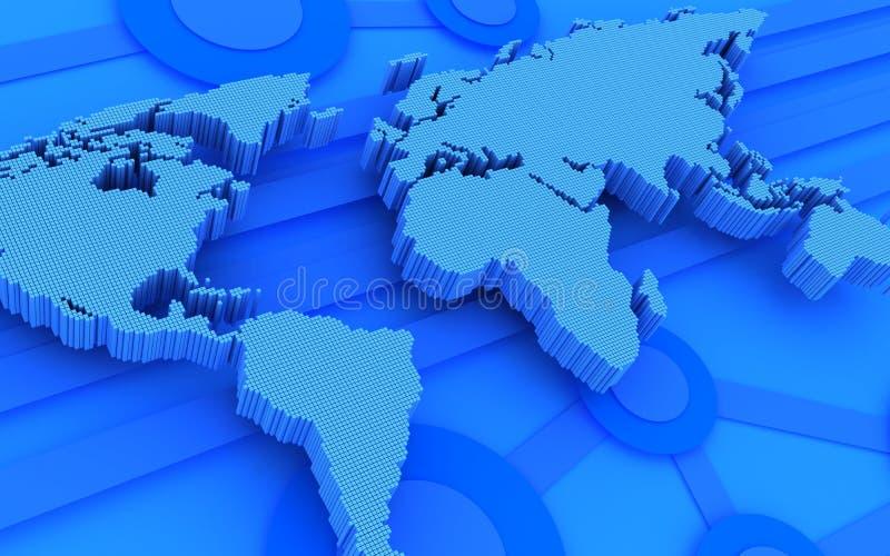 abstrakcjonistyczna błękitny mapa ilustracja wektor