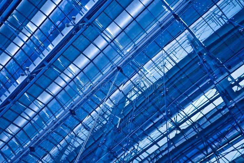 abstrakcjonistyczna błękitny podsufitowa przekątna fotografia royalty free