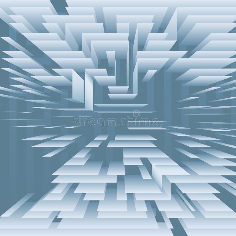 abstrakcjonistyczna błękitny warstew poziomów technologia ilustracja wektor