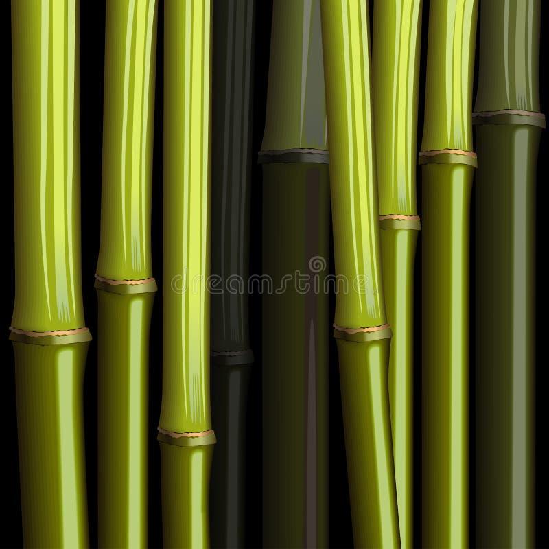 abstrakcjonistyczna bambusowa wzrostowa dżungla ilustracja wektor